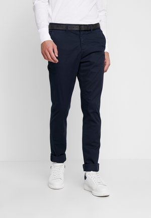 SLIM PRINTED - Chino - navy blue