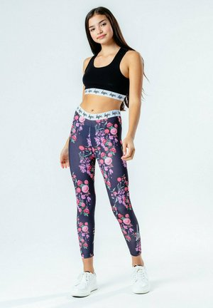 Leggings - blue/pink