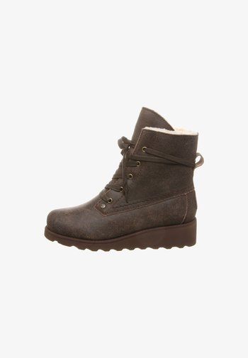 KRISTA - Wedge Ankle Boots - brown