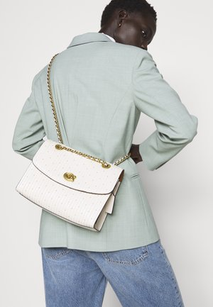 QUILTED PARKER SHOULDER BAG - Umhängetasche - chalk
