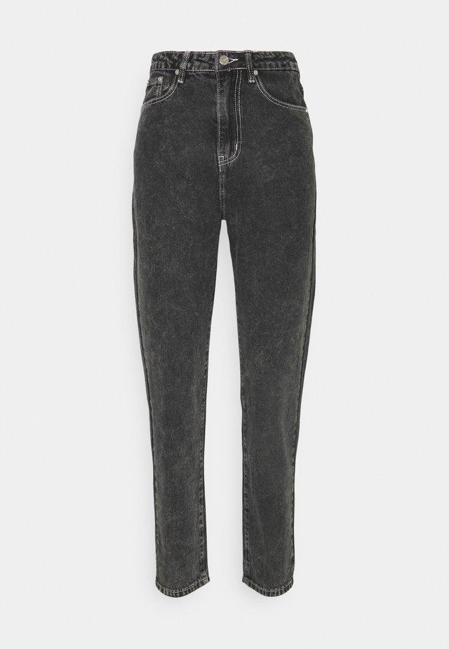 CONTRAST STITCH RIOT  - Jeans straight leg - black