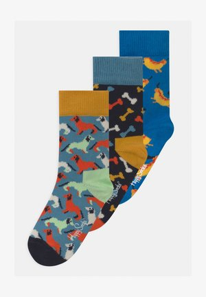 DOG 3 PACK UNISEX - Socks - blue