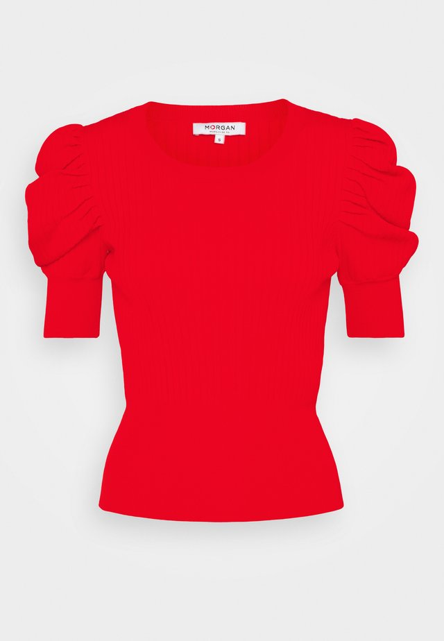 MALAIKA - T-shirt med print - orange