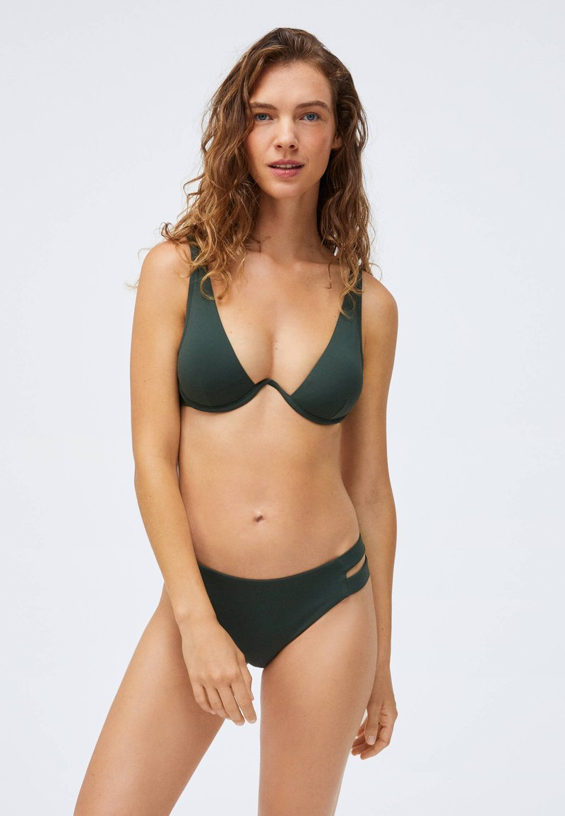 OYSHO - STRAP DETAIL - Bikini bottoms - evergreen