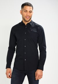 Tommy Jeans - ORIGINAL STRETCH SLIM FIT - Chemise - black - 0