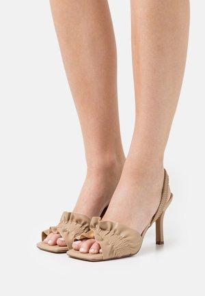 RUFFLED  - Sandals - beige