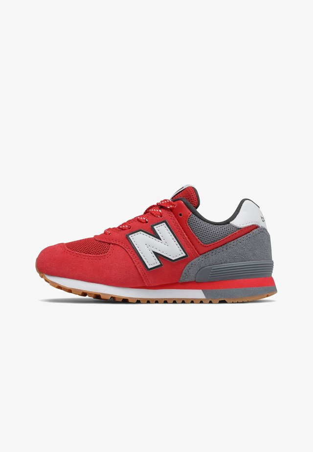 Trainers - red/grey