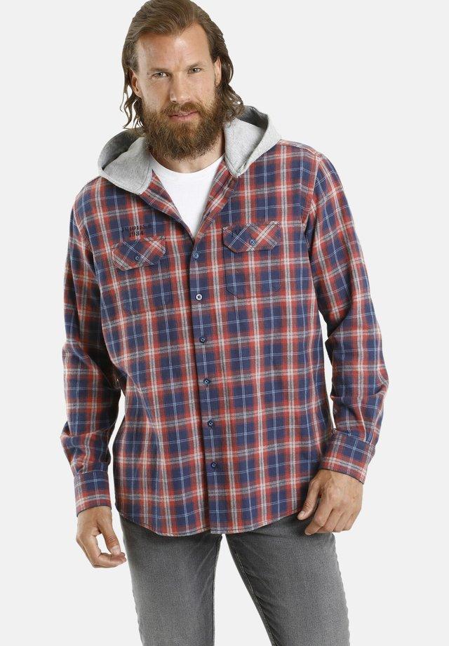 FANNAR - Shirt - blau kariert