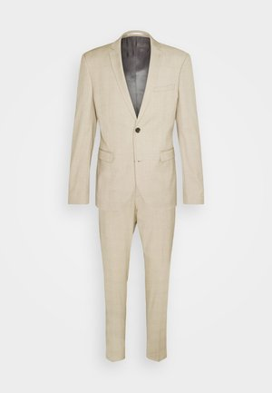 CHECK - Suit - camel