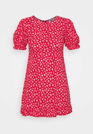 PARIS SHORT SLEEVE DRESS - Denní šaty - jolly red