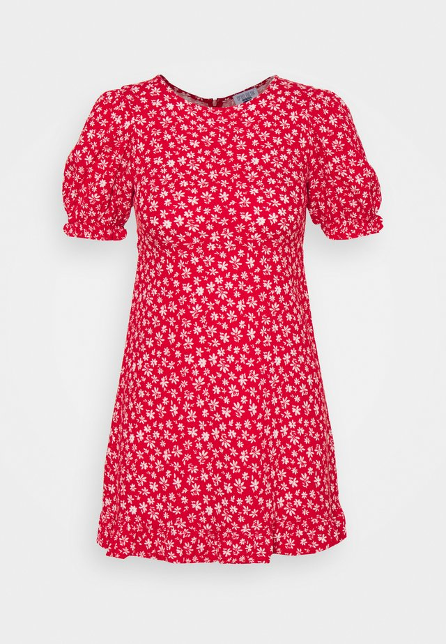 PARIS SHORT SLEEVE DRESS - Denní šaty - jolly red