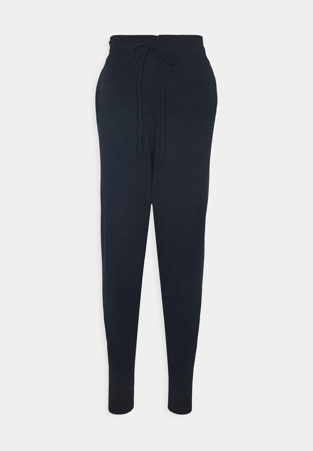 CUFFED JOGGERS WITH FRONT TIE DETAIL - Trainingsbroek - dark navy