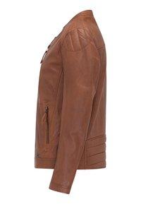 Mustang - Leather jacket - braun - 7