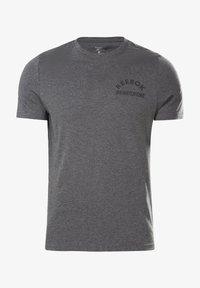 Reebok - REEBOK WEIGHTLIFTING T-SHIRT - T-shirt imprimé - grey - 5