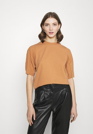 OTILLA  - Basic T-shirt - tobacco brown