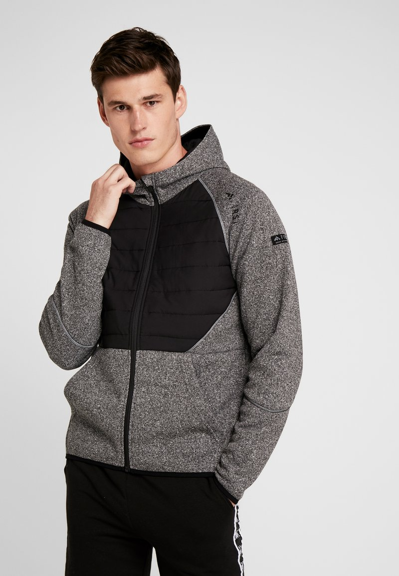 FIRST - ALLEN HOOD ZIP JACKET - Mikina na zip - medium grey melange