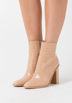 CINDY  - High heeled ankle boots - nude