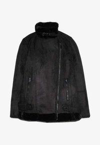 Stradivarius - Zimní kabát - black - 4