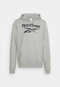 HOODIE - Sweatshirt - medium grey heather/black