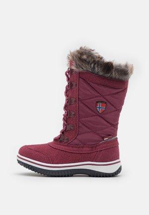 HOLMENKOLLEN UNISEX - Zimní obuv - maroon red