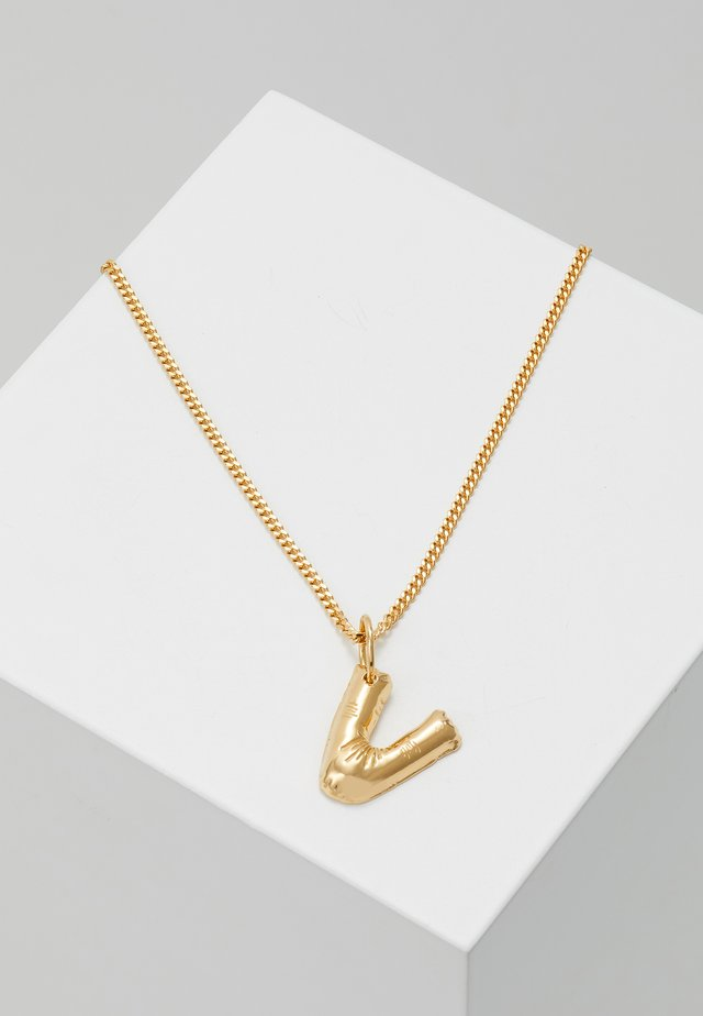 NECKLACE BALLOON LETTER PENDANT - Halskette - gold-coloured