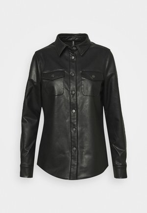 ONLALISON JACKET - Faux leather jacket - black