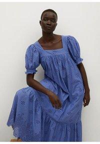 Mango - Vestido largo - blue - 5