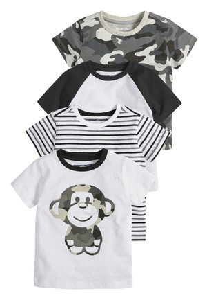4 PACK  - Print T-shirt - black
