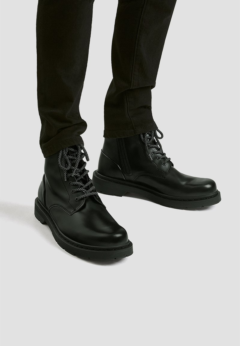 PULL&BEAR - Lace-up ankle boots - black