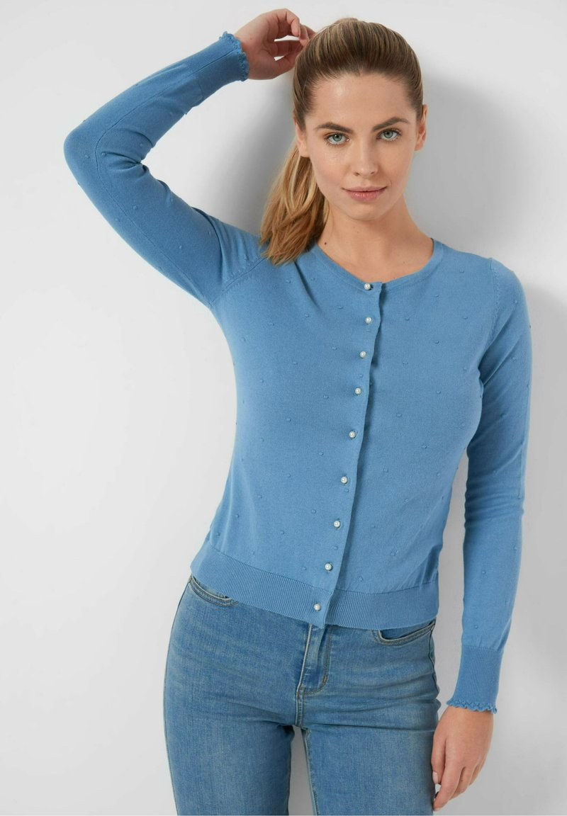 ORSAY - MIT 3D-MUSTER - Cardigan - dirty bleaches