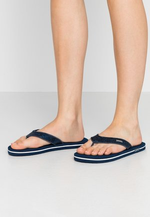 GLITTER THONGS - T-bar sandals - navy