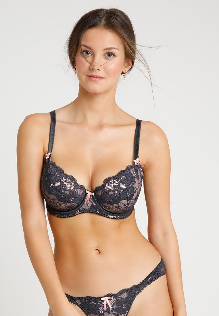 Pour Moi - AMOUR UNDERWIRED NON PAD - Underwired bra - graphite/pink