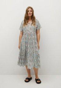 Violeta by Mango - FLIESSENDES - Day dress - himmelblau - 0