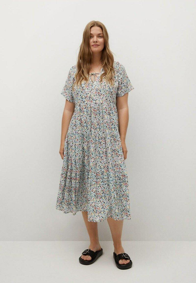 Violeta by Mango - FLIESSENDES - Day dress - himmelblau