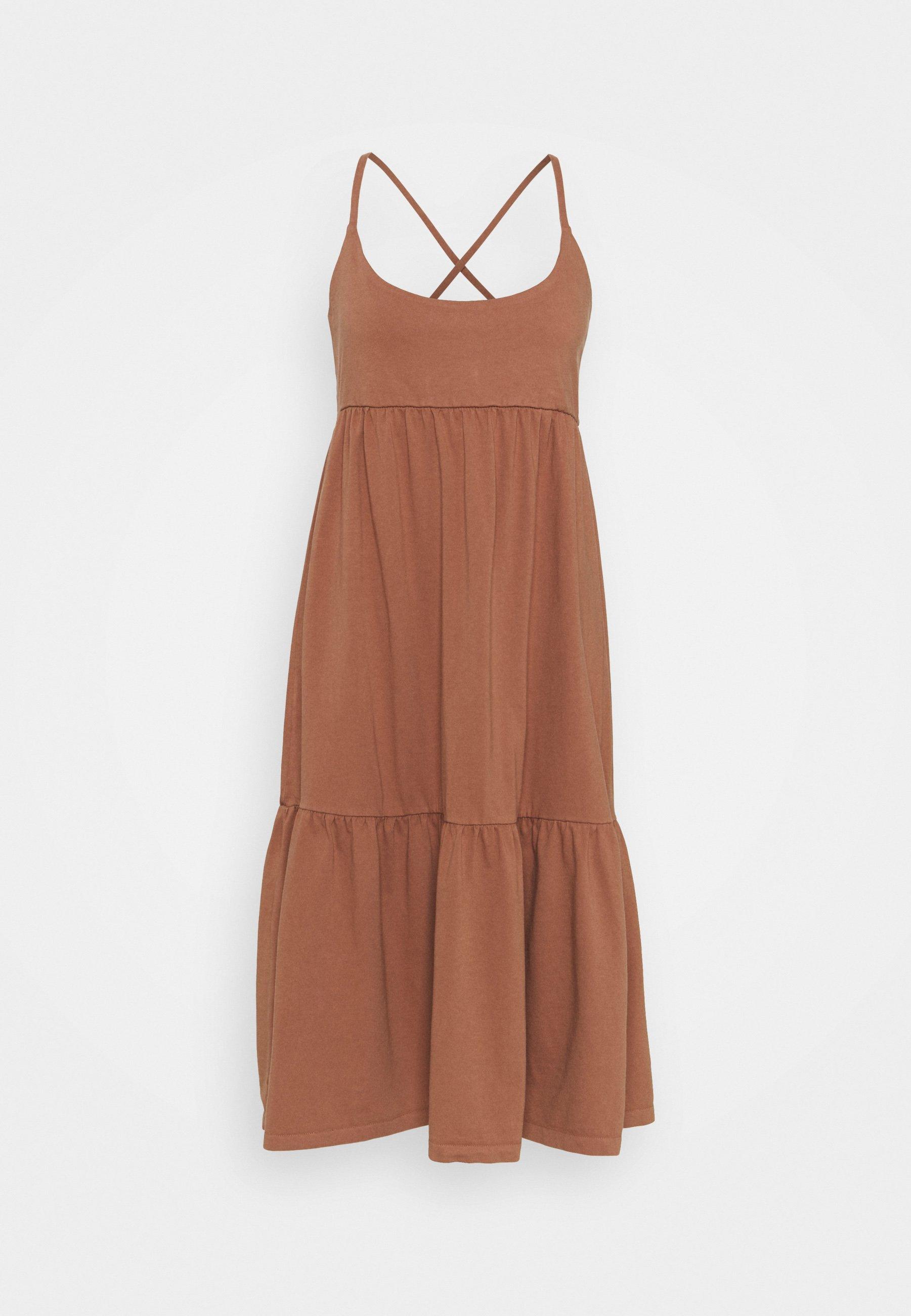 Women STRAPPY TIERED MIDI - Jersey dress