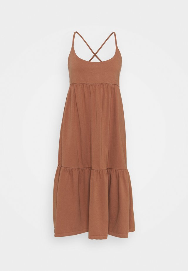 STRAPPY TIERED MIDI - Jersey dress - sun kissed clay