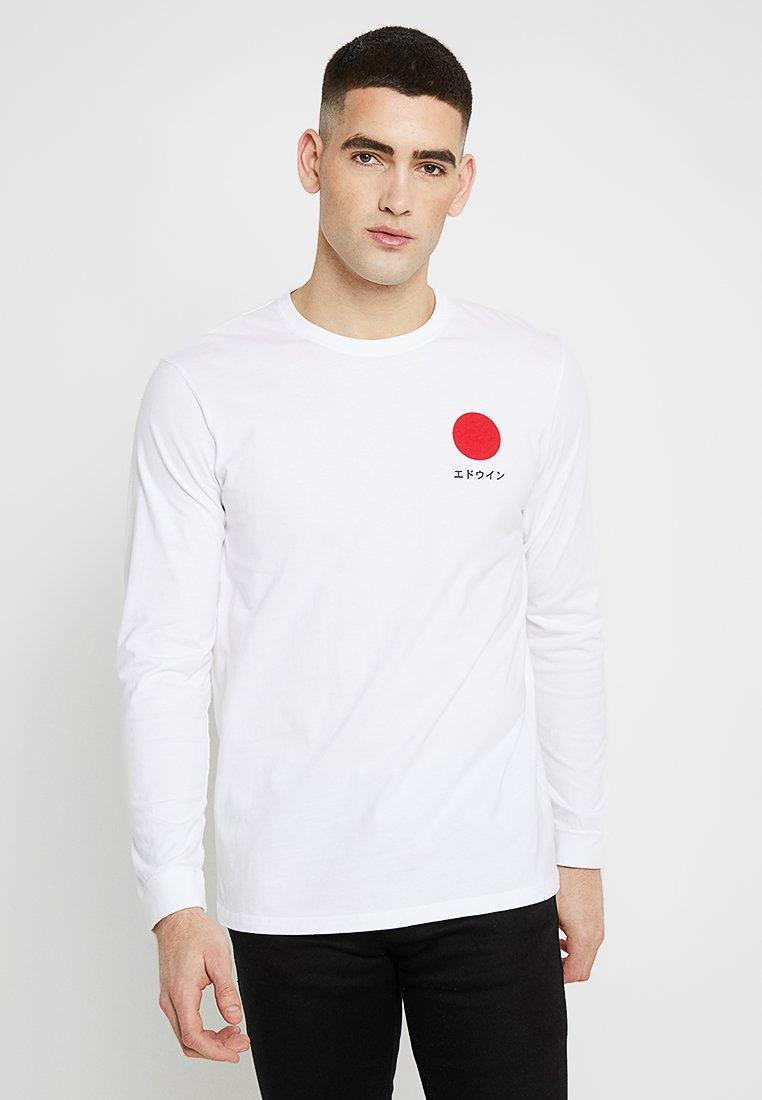 Edwin - JAPANESE SUN - Long sleeved top - white