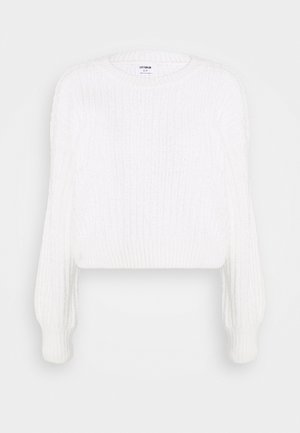 CROPPED BLOUSON - Jumper - cloud dancer