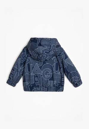 JACKE ALLOVER-PRINT - Waterproof jacket - blau