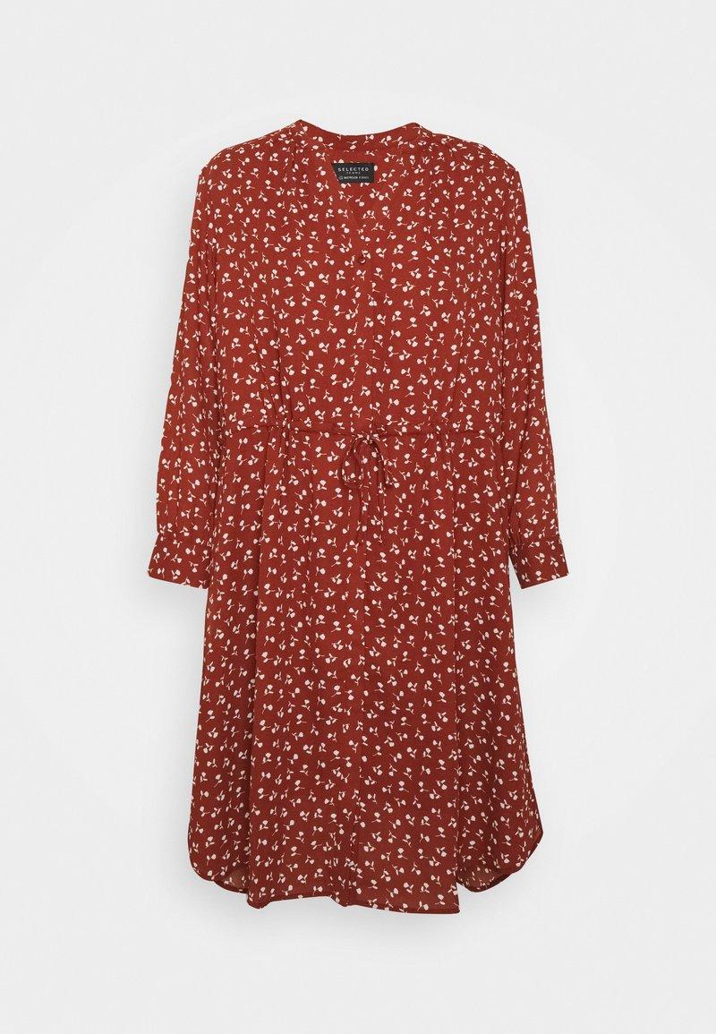 Selected Femme - SFDAMINA DRESS  - Day dress - dark red