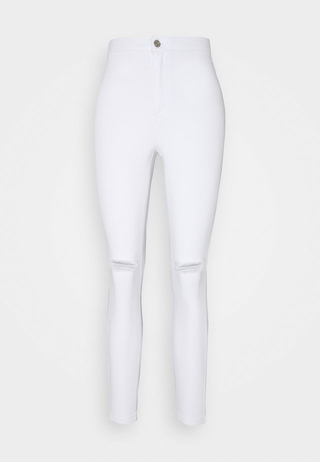 VICE HIGHWAISTED SLASH KNEE - Skinny džíny - white