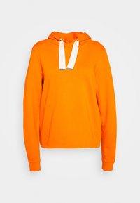 LONG SLEEVE HOODED CUFFS - Bluza z kapturem - sunbaked orange
