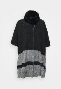 Marks & Spencer London - COLLAR DESIG - Poncho - black - 0