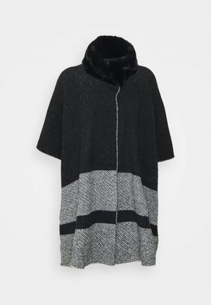 COLLAR DESIG - Poncho - black