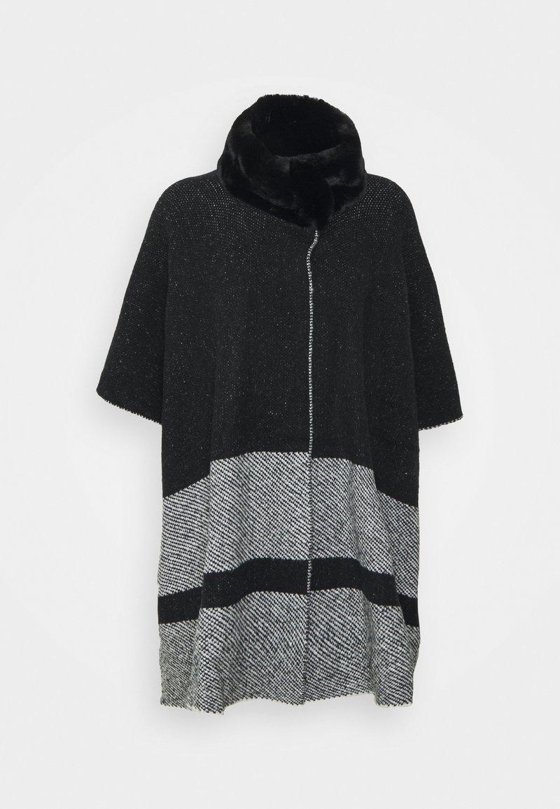 Marks & Spencer London - COLLAR DESIG - Poncho - black