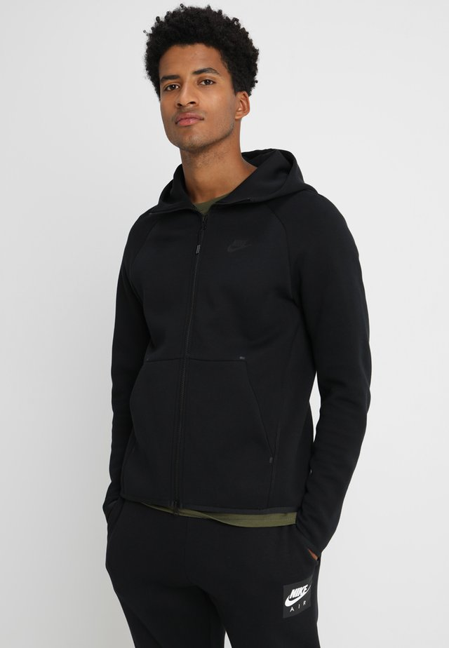 TECH FULLZIP HOODIE - Zip-up hoodie - black