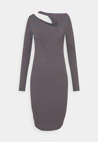 DRESS - Jumper dress - road gray