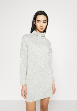 JDYSARA TONSY NECK DRESS - Jumper dress - silver birch melange