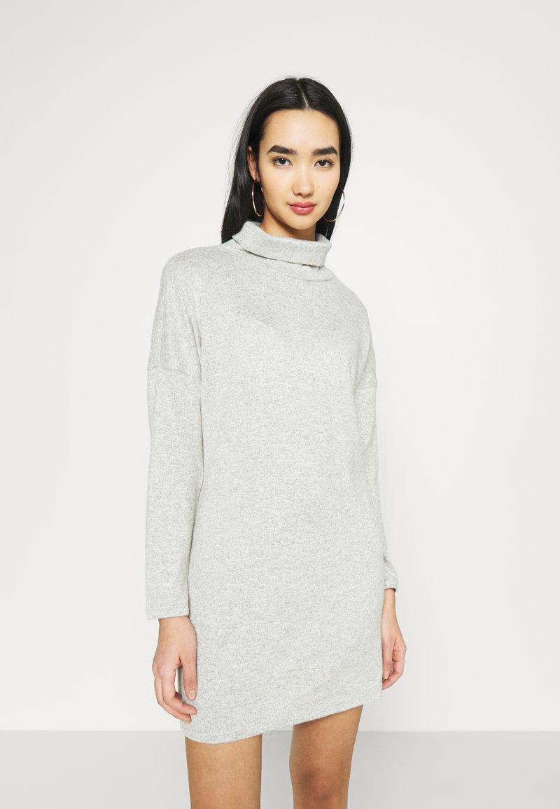 JDY - JDYSARA TONSY NECK DRESS - Jumper dress - silver birch melange