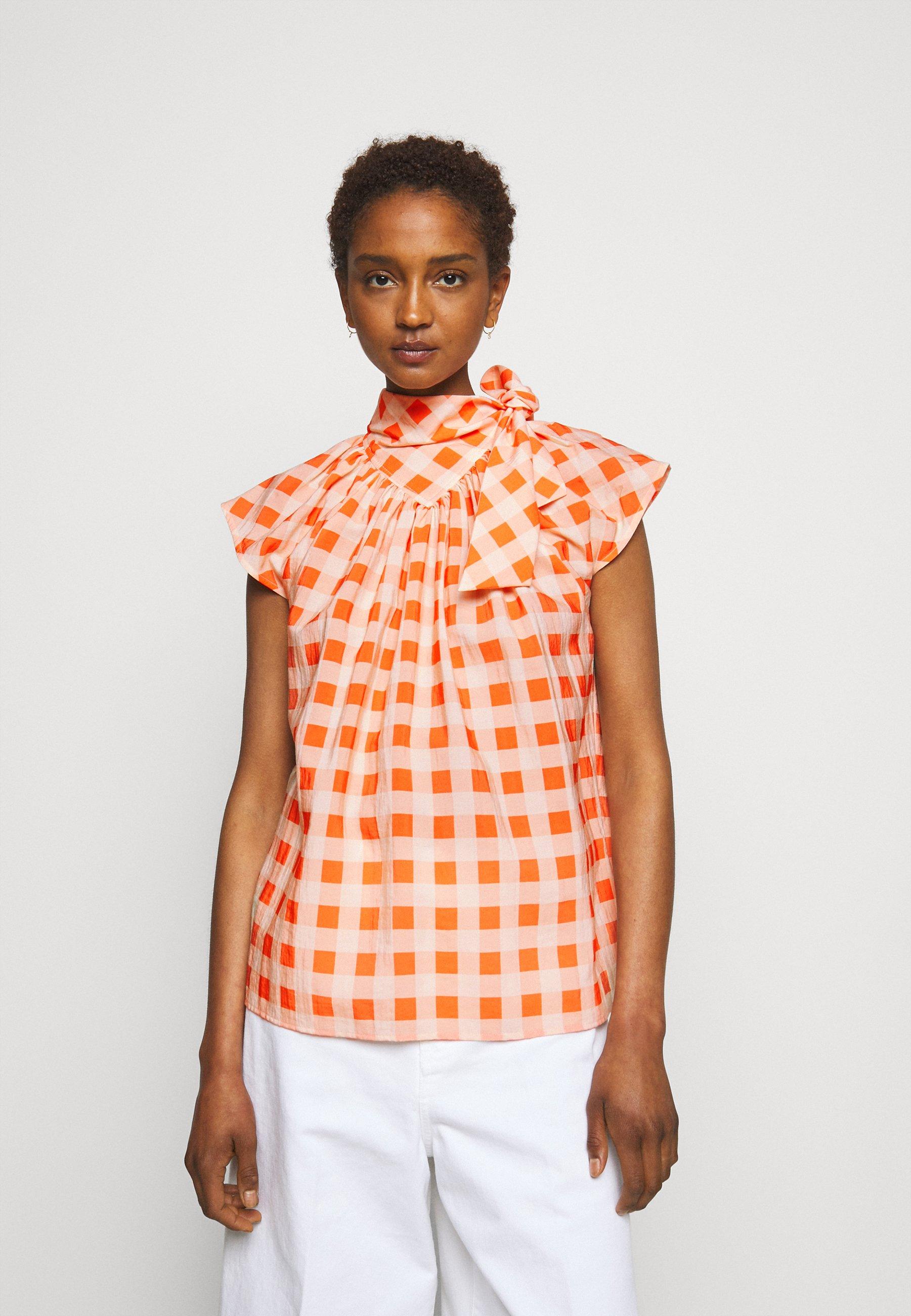 Women GINGHAM CHECK BOW DETAIL  - Print T-shirt
